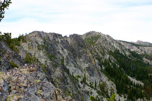 View of the Berry-Norton summit from the East Ridge