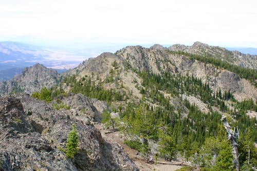 View of Canyon Mountain from Berry-Norton Summit