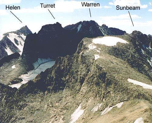 Boomerang ridge rises from...