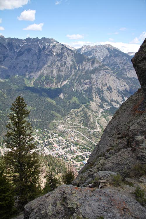 Ouray below