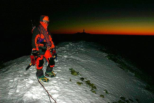After a long day climbing the...