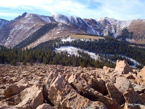 Pikes Peak Highway from Summit