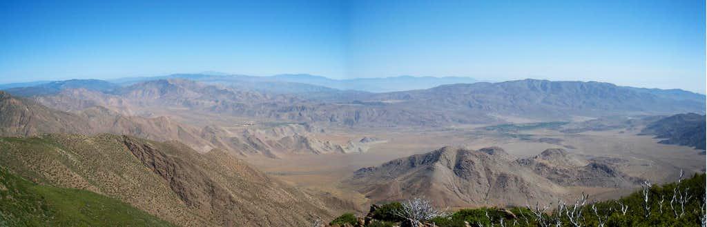 Shot from peak next to Monument Peak