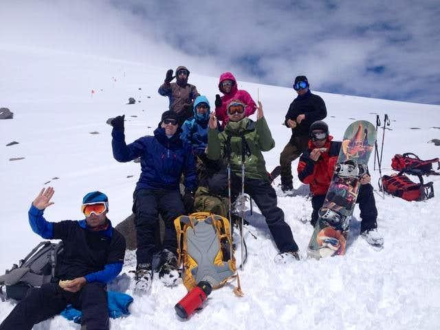 The team 4650m on Mt Elbrus
