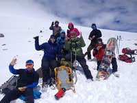 The team 4650m on Mt Elbrus