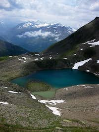 Looking down on the Seekarsee, with the Wildspitze in the background