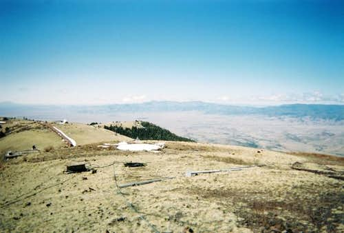 The summit of South Baldy Peak.