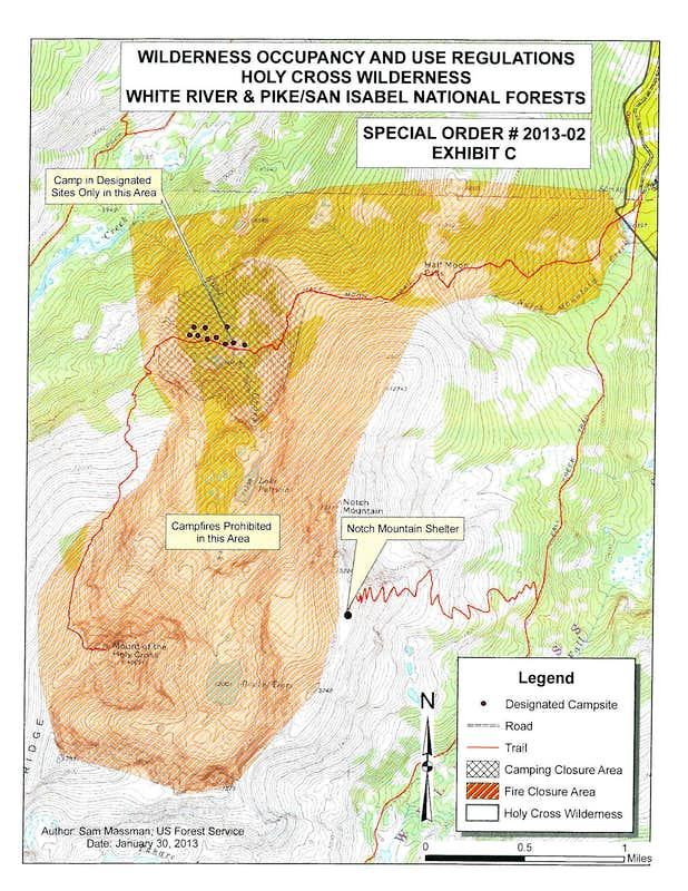 Holy Cross Camping Map : Photos, Diagrams & Topos : SummitPost