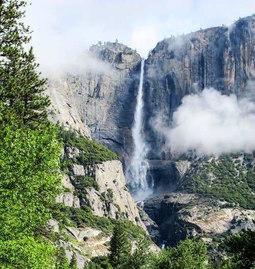Yosemite Falls in the Mist