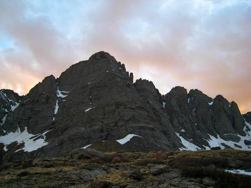 The Crestone Needle at sunset
