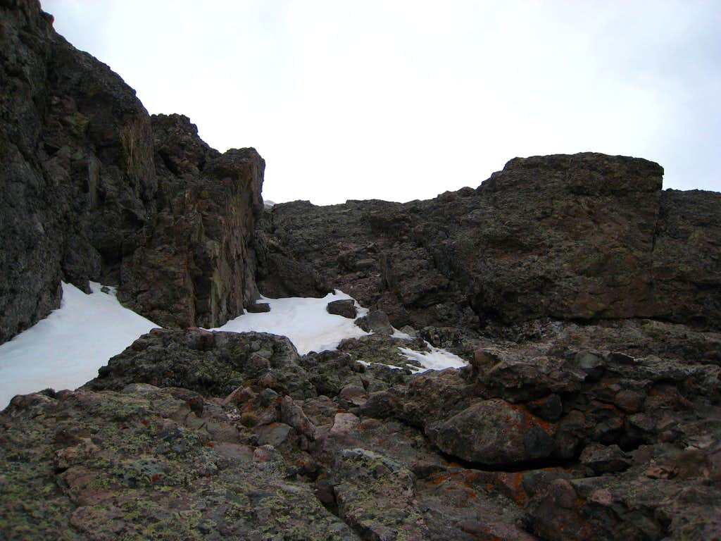Final easy slope to the summit