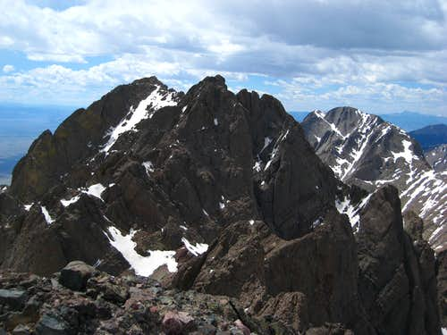 The traverse to Crestone Peak