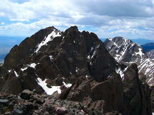 The traverse to Crestone Peak