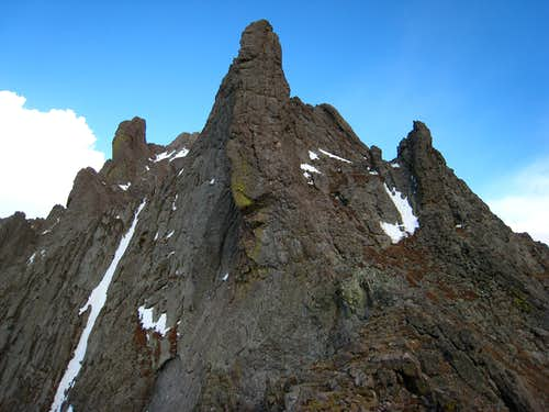 Broken Hand Peak from the pass