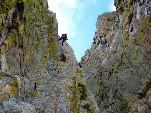 Jeff on the second rappel