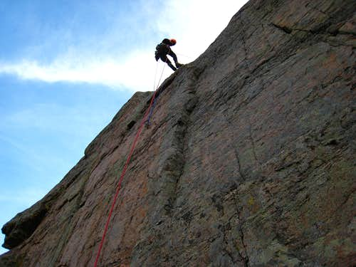 Jeff on the forth rappel