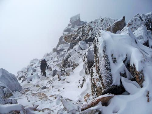 Approaching the Summit of Dragontail