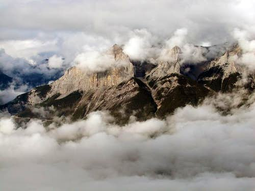 Clouds on East Rundle taken...