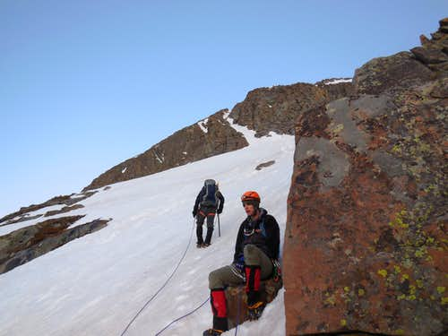 Top of the first couloir