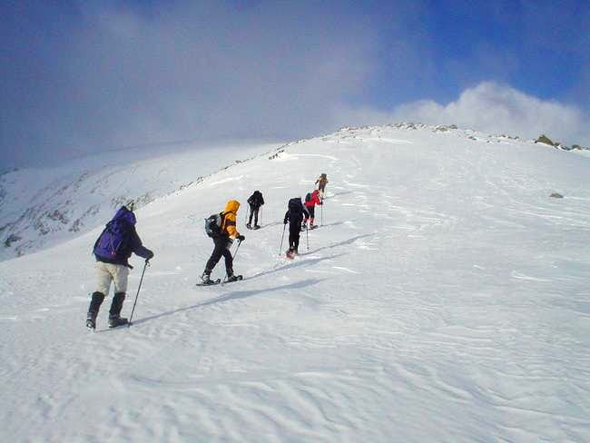 Making our way to the summit...