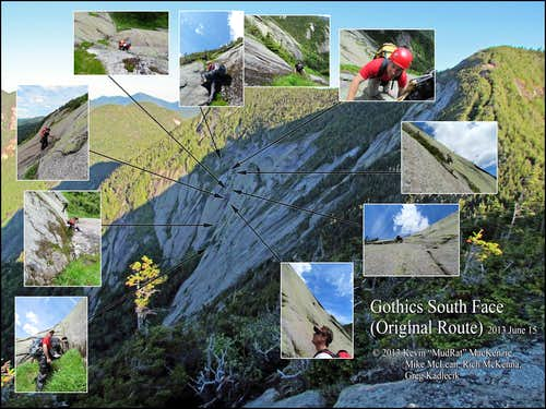 Gothics South Face Mosaic Summer