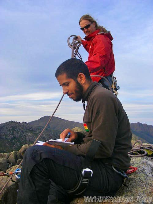 Me and Tacio Philip at the summit