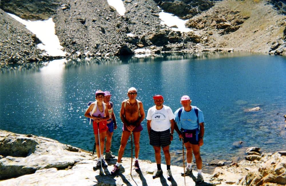 Lago Gelato before the ascent on Monte Iverta 1993