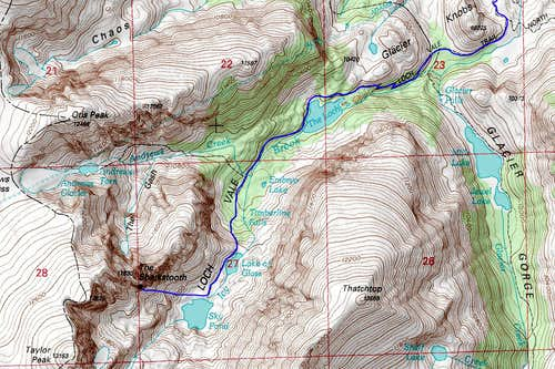 Petit Grepon Approach Map