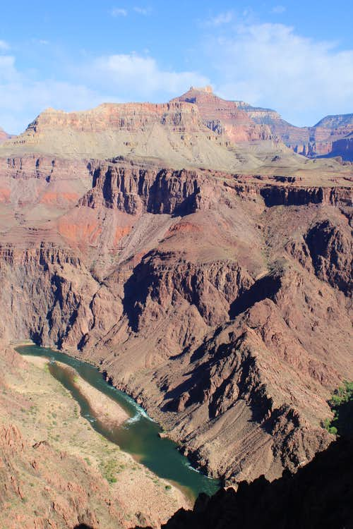 View of the Colorado River on the South Kaibab Trail