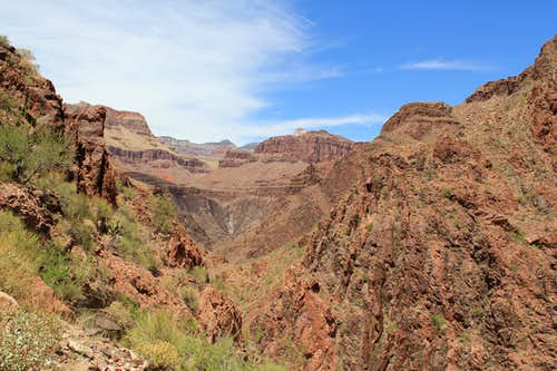 Looking north from Devil's Corkscrew on Bright Angel Trail