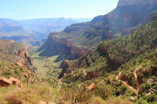 Looking down the Bright Angel Trail