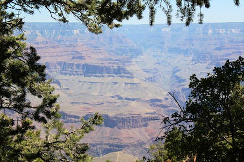 The Grand Canyon from the South Rim near the Bright Angel Trail trailhead