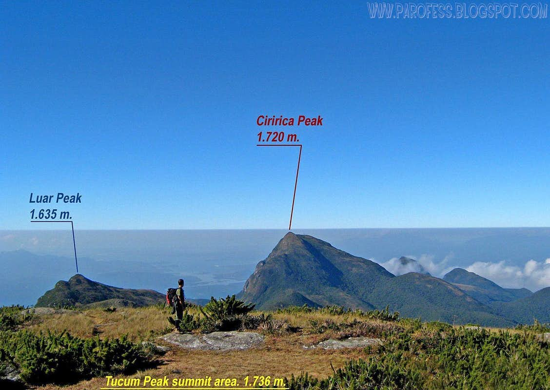 Luar Peak info view