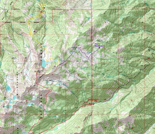 Boulder Peak Overview Map