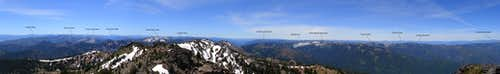 Boulder Peak Summit Panorama