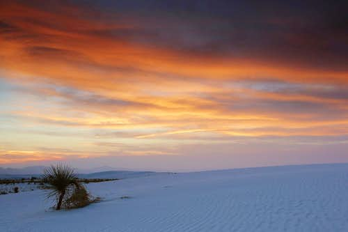 Firey Sunset Over White Sands