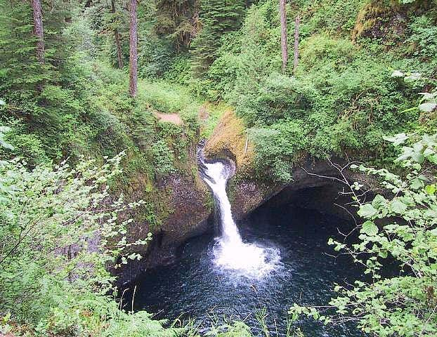 Punch Bowl Falls on the Eagle...