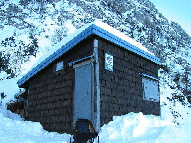 The bivouac in the north face...