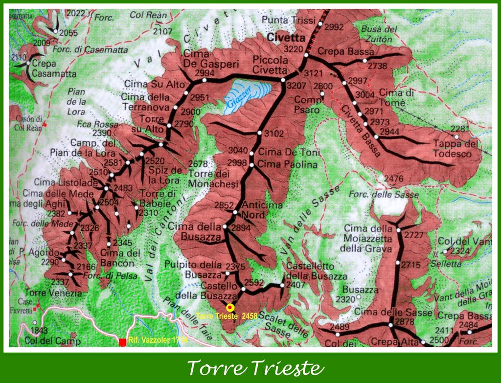 Torre Trieste map