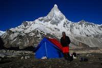Me, at the base camp