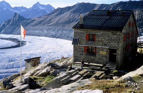 Monte Rosa hut and the...