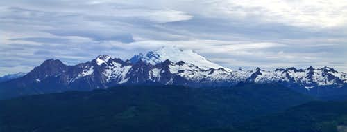 Mt. Baker and Twin Sisters from Lyman Hill
