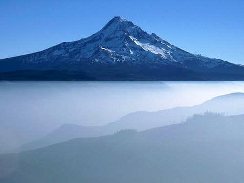 Mt. Hood above Temperature Inversion