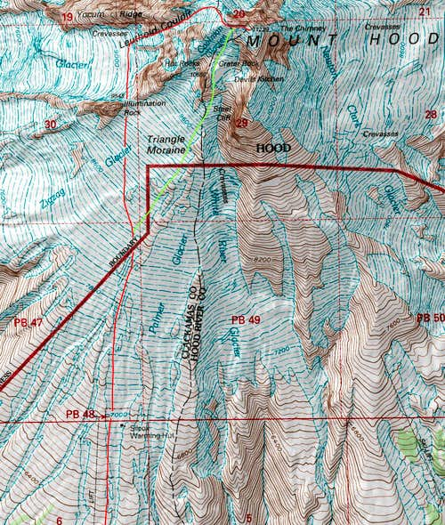 Leuthold Couloir Topographic Map