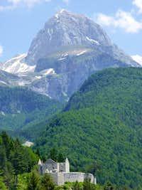 Mangart from Predil Pass
