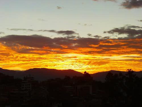 Sunset in Cariamanga