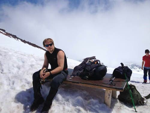 Anders at Camp Muir