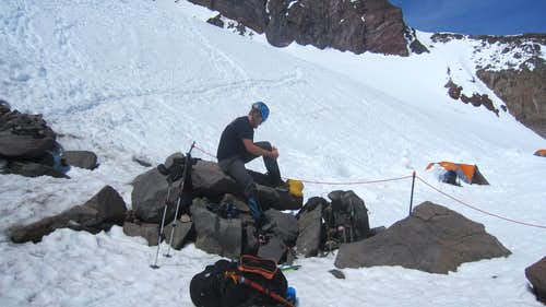 Tyler at Camp Muir