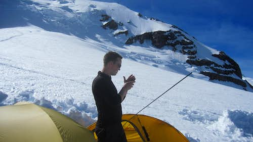 Jason at ingraham Flats - Rainier