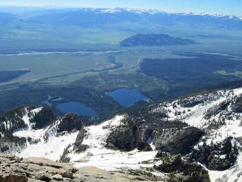 Looking down to the east from the summit of Disappointment Peak, June 9 2013